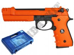 HG193 BB Gun M92 Tactical Replica Pistol AirsoftGas Blowback 2 Tone Orange Black Metal Slide